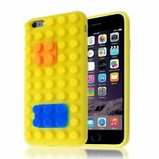 3D BUILDING LEGO BRICK BLOCKS SOFT SILICONE CASE STAND COVER FOR IPHONE 6 PLUS