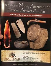 Heartland Artifact Auction 3/25/17 Catalog Authentic Indian Arrowhead Axe Spade