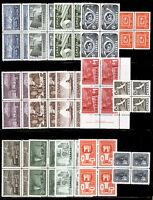 Canada #294-#411 4c-$1 1950s Various *MNH* Blocks of 4 Gem Fresh 15 items