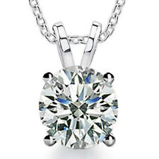 0.40 Ct Ladies Round Cut Diamond Soitaire Pendant Necklace