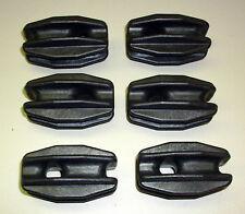 6 Stück Isoliereier (Abspannisolatoren) schwarz (M9076)