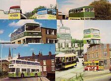 9 Bus & Tram Postcards ~ Chesterfield Transport Centenary 1982: Transicards
