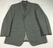 PONTI PLATINUM made in ITALY gray HOUNDSTOOTH 3btn SPORT coat JACKET 44 R reg