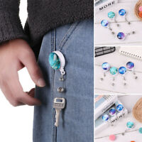 Clip Anti-Lost Clip Retractable Badge Holder Lanyards Starry Marble Pattern