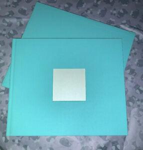 Tiffany & Co. Blue Simple Wedding Guest Book W/Photo Pocket New W/Sleeve