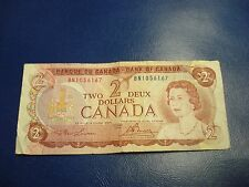 1974 - Canada $2 bill - circulated - Canadian two dollar - BN1056167