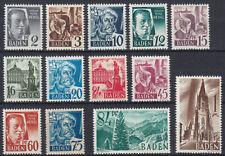 BADEN FRENCH OCCUPATION Mi. #1-13 mint MNH stamp set! CV $4.80