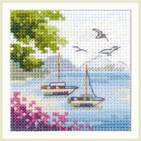 Counted Cross Stitch Kit ALISA - Sea view