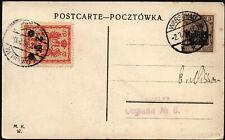 1916 POLSKA POLEN LOKALNA KARTKA OBIEG WARSZAWA WARSCHAU POCZTA MIEJSKA