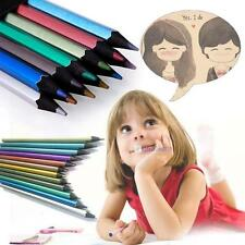 SPECIAL 12 Colours Metallic Non-toxic Drawing Pencils For Kid Adult Colouring KJ