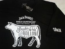 4XL JACK DANIELS BBQ 2018 Smoke in the Hollow CHAMPIONSHIP BARBECUE Cow T-SHIRT