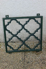 Grille en fonte - Aération - Décoration - Garde Fou cave - 26,5 x 26,5