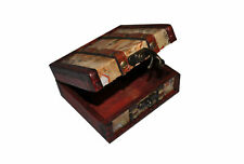 Antique Wood Tattoo Machine Gun Grip Wooden Box Case Accessories Gift