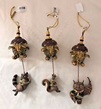Katherine's Collection Set of Three Tapestry Animal Acorn Ornaments 18-628188
