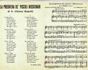 Preghiera de piccoli missionari di S. Chiara Napoli PC Circa 1929 Cart. Doppia