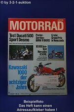 Motorrad 7/77 Ducati 500 Yamaha Hercules Ossa Kawasaki