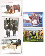 Christmas Cards and Mini Calendars x 8 - Hillside Animal Sanctuary Scenes