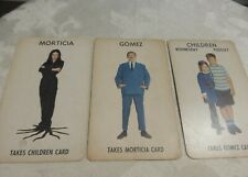 3 1965 The Addams Family Game Cards Gomez, Morticia and Children Vintage