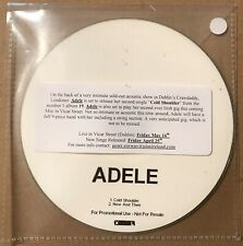 Adele - Cold Shoulder UK 2 Track Promo Cd Single 2008 Nineteen 19 Very Rare