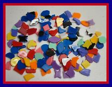 200 PCS~PLASTIC MOSAIC KIDS CRAFT SUPPLIES  MIXED SHAPES AND COLORS ART PROJECTS