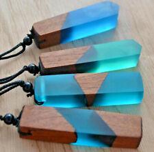 Wood & Resin Vintage Fashionable Woven Rope Necklace - 8 Designs Ladies Men - UK