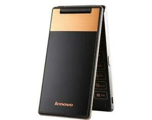 "Black Lenovo A588T 4GB Dual-SIM 4"" Android TouchScreen Flip Phone"
