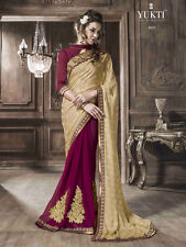 Designer Georgette Saree with Designer Blouse Multi Color Party Wear