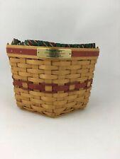 Longaberger 1997 Small Snowflake Basket Combo Red Trim
