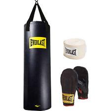 Everlast Heavy Bag Kit 100 lb Pound Punching Boxing Bag Gloves Hand Wraps NEW