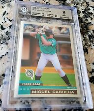 MIGUEL CABRERA 2000 Topps Chrome Traded Rookie Card RC BGS 9 MINT almost 9.5 HOT