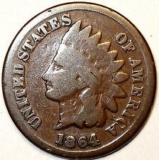 1864-L RPD Indian Head Cent, Bronze, SNOW-1, Semi-Key Date. L@@K!!!