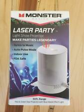 Monster Basics Laser Party Light Show Projector - Sync To Music - 30ft Range