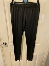 Womens Wet Look Leggings Size 12