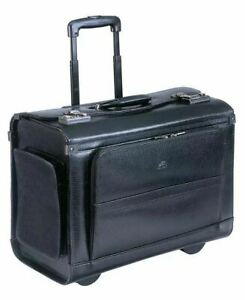 $680 New Mancini Men's Business Collection Wheeled Laptop Catalog Case
