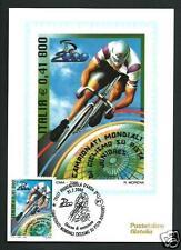 Campionati del Mondo Ciclismo - Cartolina Filatelica Uff. Poste Italiane 2000