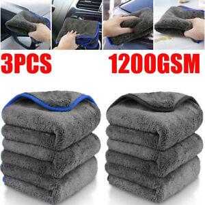 3X Car Detailing Wash Microfiber Towel Car Cleaning Drying Washing Cloth 1200gsm