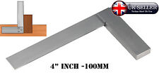 "4"" inch 100mm STEEL TRY SQUARE PRECISION RIGHT ANGLE MEASURE Engineer's Squares"