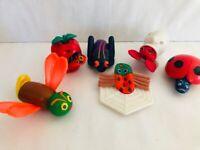 Eric Carle Finger Puppets McDonalds Toy Set of 6 COMPLETE Vintage 1990s Toys