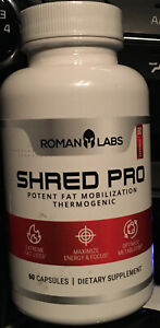 Roman Labs shred Pro Potent fat Mobilization Thermogenic. Exp 01/2022.