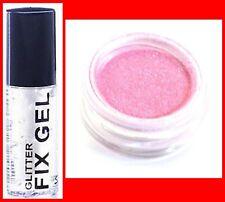 FINE PINK PRO GLITTER DUST POWDER EYE SHADOW FACE BODY NAILS+CLEAR FIX GEL(126)*
