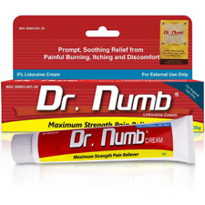x6 Dr.Numb Topical Anesthetic Lidoc Numbing Cream Pain Relief Hypoallergenic 30g