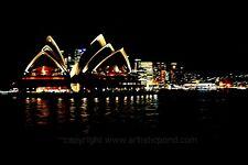 Sydney At Night - PRINTABLE Abstract Creative Photograph Wall Art Print