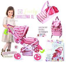 Carrozzina per Bambole grande passeggino bambolotti gioco bambina con accessori