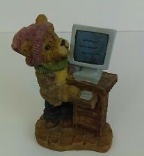 K's Collection Bear with a Computer Resin Figurine