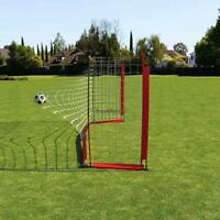 12' x 6' Portable Soccer Goal Net Steel Post Frame Backyard Football Training US