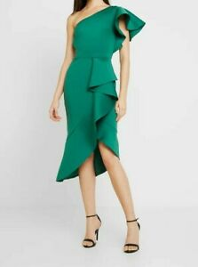 True One Shoulder Dress with Frill Detail Cocktail dress / Party dress UK Size 8