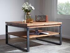 MALAGA Couchtisch Sofatisch 120x80 cm Tisch Akazie gebürstet mit Metallfüßen