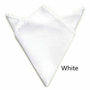 Classic Men Solid Color Handkerchief Square Satin In Suit Pocket Towel Wedding