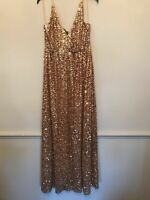 BNWT ZARA LIMITED EDITION GOLD SEQUIN LONG DRESS SIZE M