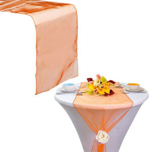 """10pcs Sheer Organza Table Runner 12""""x108"""" for Party Wedding Banquet Decoration"""